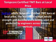 Tempcore Certified TMT Bars at Local Price