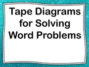 Tape Diagram Lesson for Students