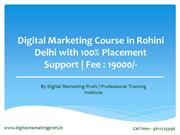 Digital Marketing Course In Rohini Delhi | Course Fees 19,000/- only
