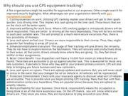 Why should you use GPS equipment tracking?