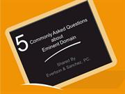 5 Commonly Asked Questions about Eminent Domain