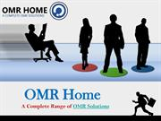 OMR Home - A Complete Range of OMR Solutions