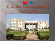 Tapmi the Best Business School in India