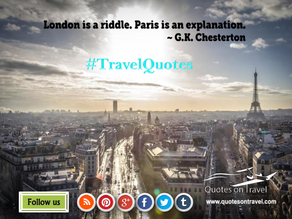 Funny Travel Quotes And Sayings By Gk Chesterton Authorstream