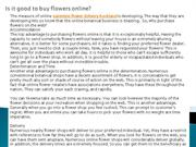 Is it good to buy flowers online?
