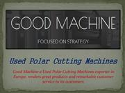 Used Polar Cutting Machines