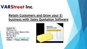 Retain Customers and Grow your E-business with Sales Quotation Softwar