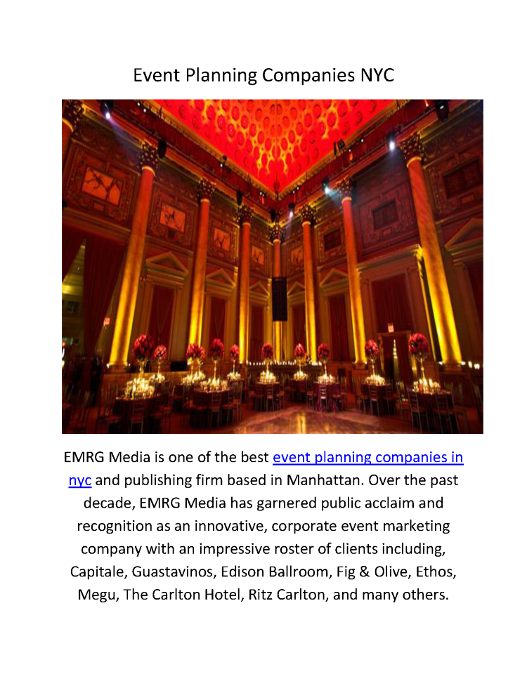 EMRG Media : Event Planning Companies in NYC |authorSTREAM