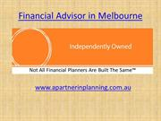 Financial Advisor in Melbourne