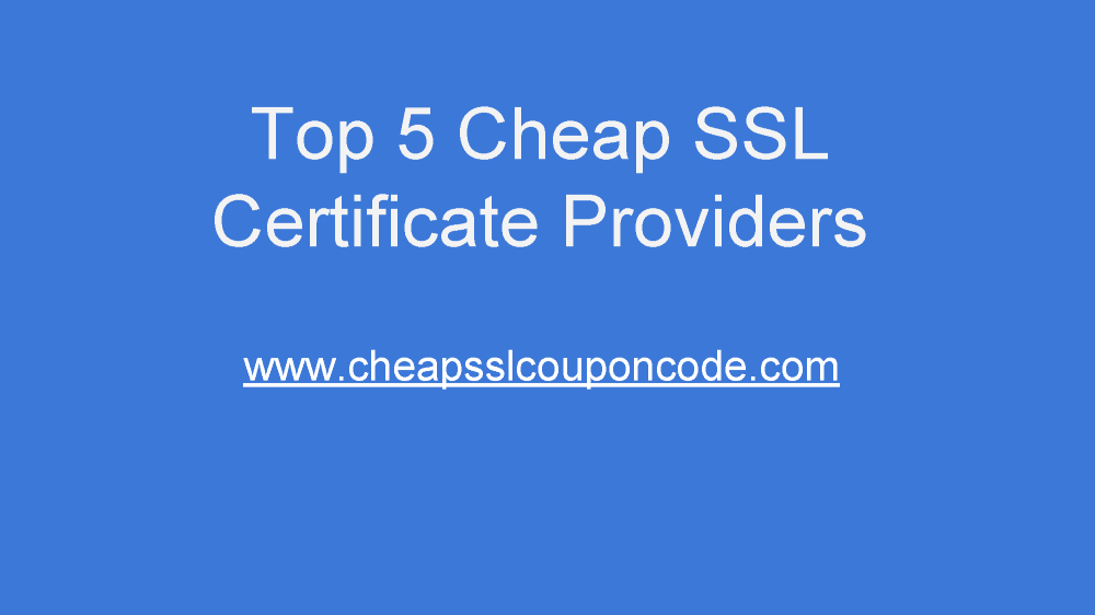 Cheap Ssl Certificate Providers Authorstream