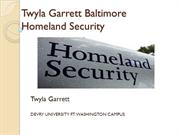 Twyla Garrett Baltimore Future of homeland security