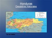 Honduras, Natural Disasters