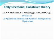 Kelly's Personal Construct Theory