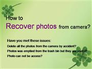 how to recover  photo from camera?
