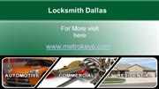 Dallas Locksmith Services For Auto, Home, and Business