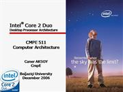 Intel Core 2 Duo Desktop Processor Archi