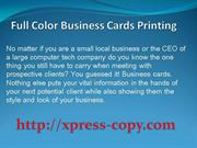 Full Color Business Cards Printing Northern Virginia