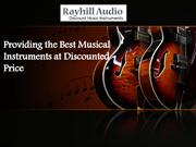 Providing the Best Musical Instruments at Discounted Price