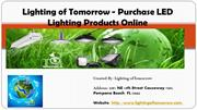 Lighting of Tomorrow - Purchase LED Lighting Products Online