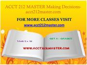 ACCT 212 MASTER Making Decisions-acct212master.com
