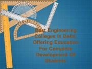 Best Engineering Colleges, Offering Quality Engineering Education