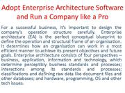 Adopt Enterprise Architecture Software and Run a Company like a Pro