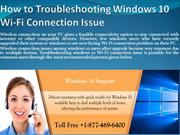 How to Troubleshooting Windows 10 Wi-Fi Connection Issue?