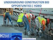 Underground Construction Bid Opportunities | H2bid