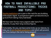 How to Make Pro Football Predictions