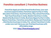 Franchise Business opportunity in india | Franchise Apply