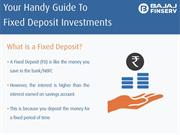 Smart Way To Understand The Fixed Deposit Investment Process