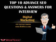 Top 10 Advance SEO Questions & Answers for Interview