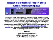 Netgear router customer support and service phone number