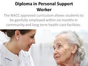 Diploma in Personal Support Worker