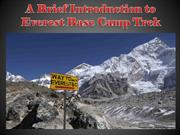 A Brief Introduction to Everest Base Camp Trek
