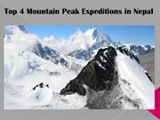 Top 4 Mountain Peak Expeditions in Nepal