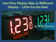 Gas Price Display Sign or Billboard Display – LEDs Are the Best