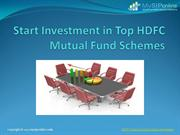 Track Records Of Top HDFC Mutual Fund - Mysiponline