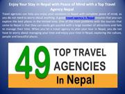 Enjoy Your Stay in Nepal with Peace of Mind with a Top Travel Agency N