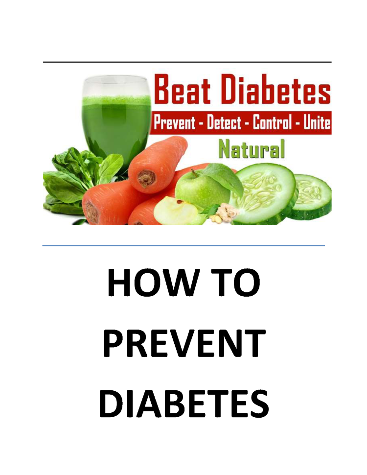Natural Ways To Prevent And Treat Diabetes