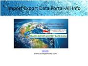 Search Export import trade data - All info