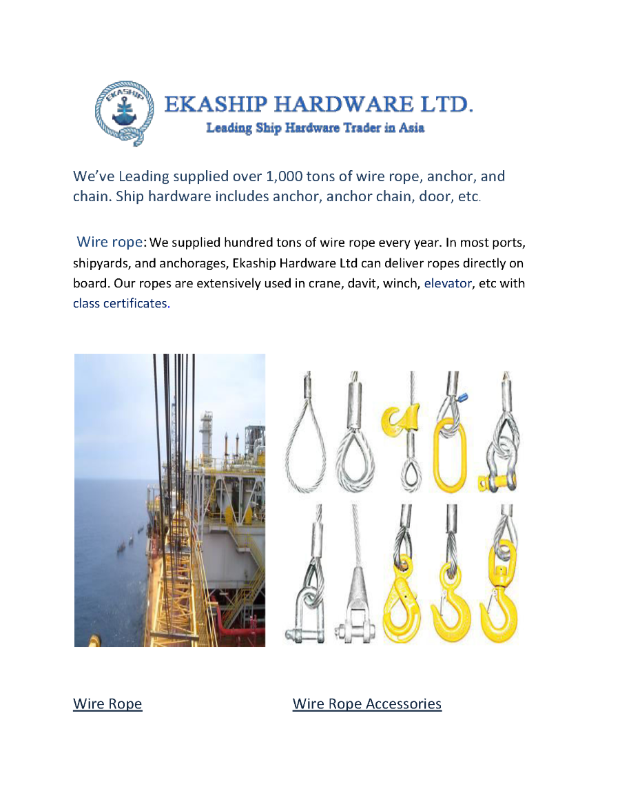 Ekaship Hardware Ltd Leading Supplier Of Wire Rope Panama Chock Cable Diagram Http Wwwpoweredtemplatecom Powerpointdiagrams Related Presentations