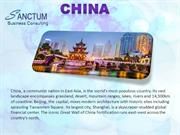 Looking for China visitor Visa -Contact Sanctum Consulting