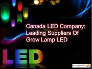 Canada LED Company: Leading Suppliers Of Grow Lamp LED