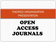 open access journals