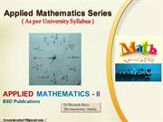 Applied Mathematics-II Topic Details