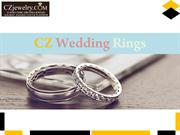 Cubic Zirconia  Wedding Rings - CZ Jewelry
