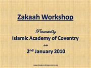 Zakaah Workshop