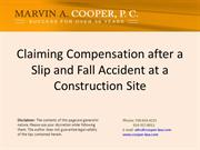 Claiming Compensation after a Slip and Fall A