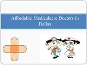 Affordable Medical care doctors in Dallas